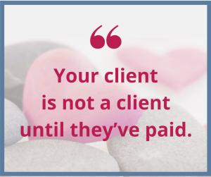 client not a client