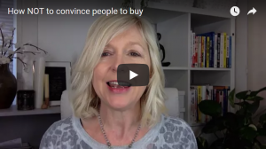How NOT to convince people to buy from you