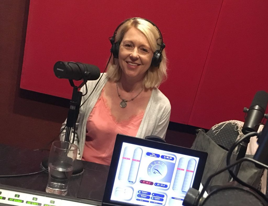 Catherine enjoying her radio appearance in Perth